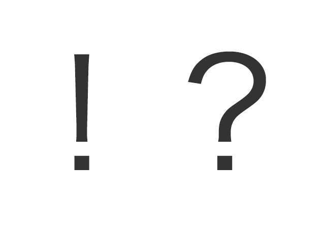 びっくり!はてな?「!?」記号の使い方は?いつどんなときに使うべき?