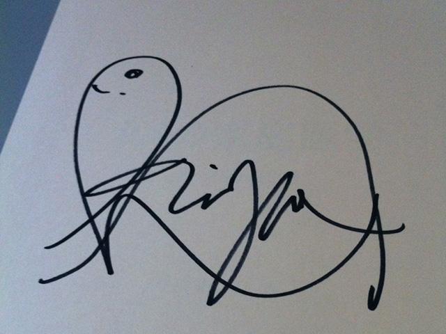 小家山先生のサイン